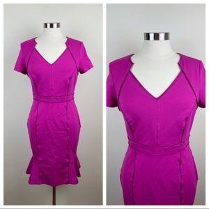 Nue By Shani Magenta Pink Purple Dress Fit Flare Women Size 8